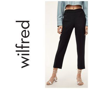 WILFRED Pleated Cropped Straight Leg Pants